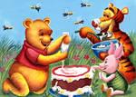 Winnie the Pooh , Tigger, Piglet by HoneyBees987