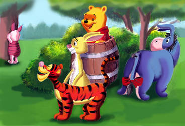 Winnie the Pooh and Friends. Hide-and-seek by HoneyBees987