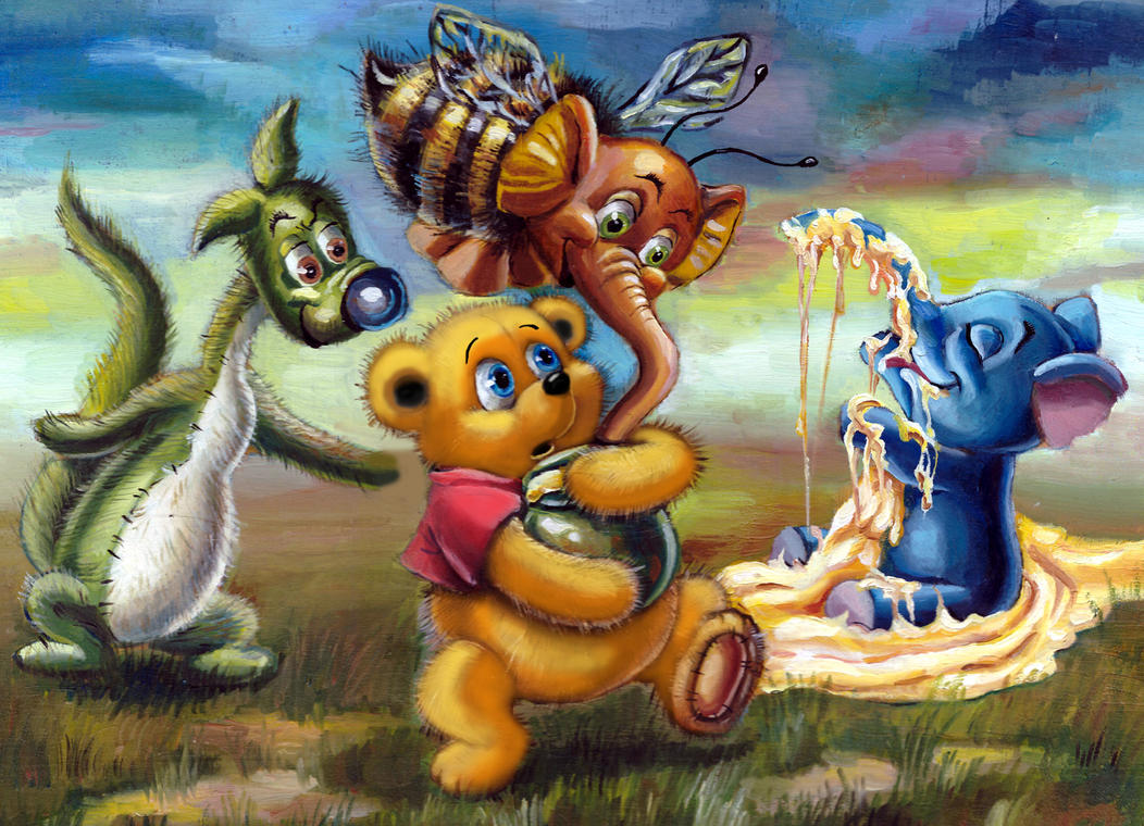 Winnie the Pooh, Heffalumps and Woozles by HoneyBees987