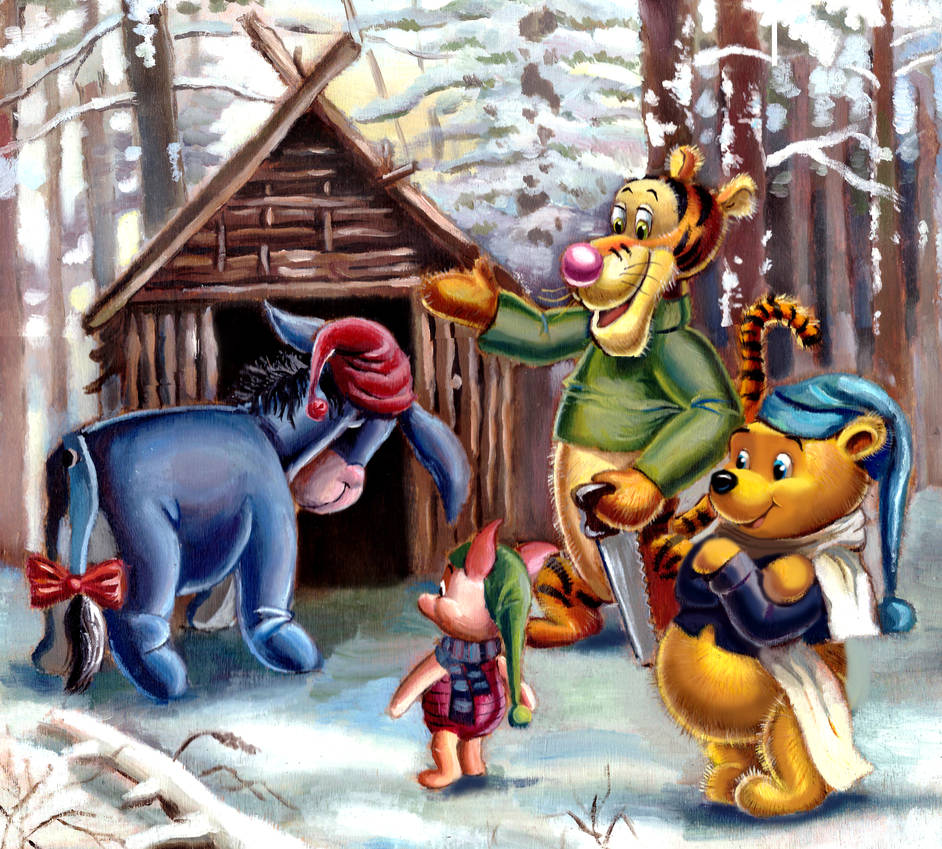 Winnie the Pooh and Friends. Eeyore's House by HoneyBees987