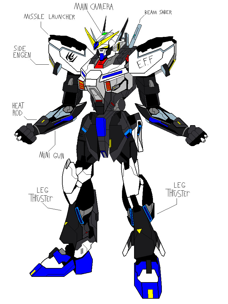 Xaon Gundam base form by broku5000