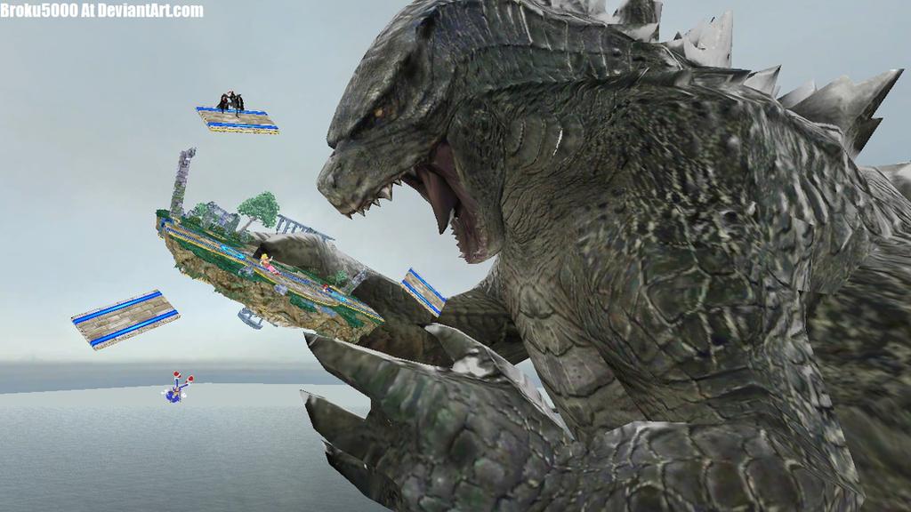 Godzilla Joins The Brawl! by broku5000