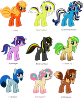 Eevelution Pony Adopts: CLOSED (Already? IKR?) by varletlegion