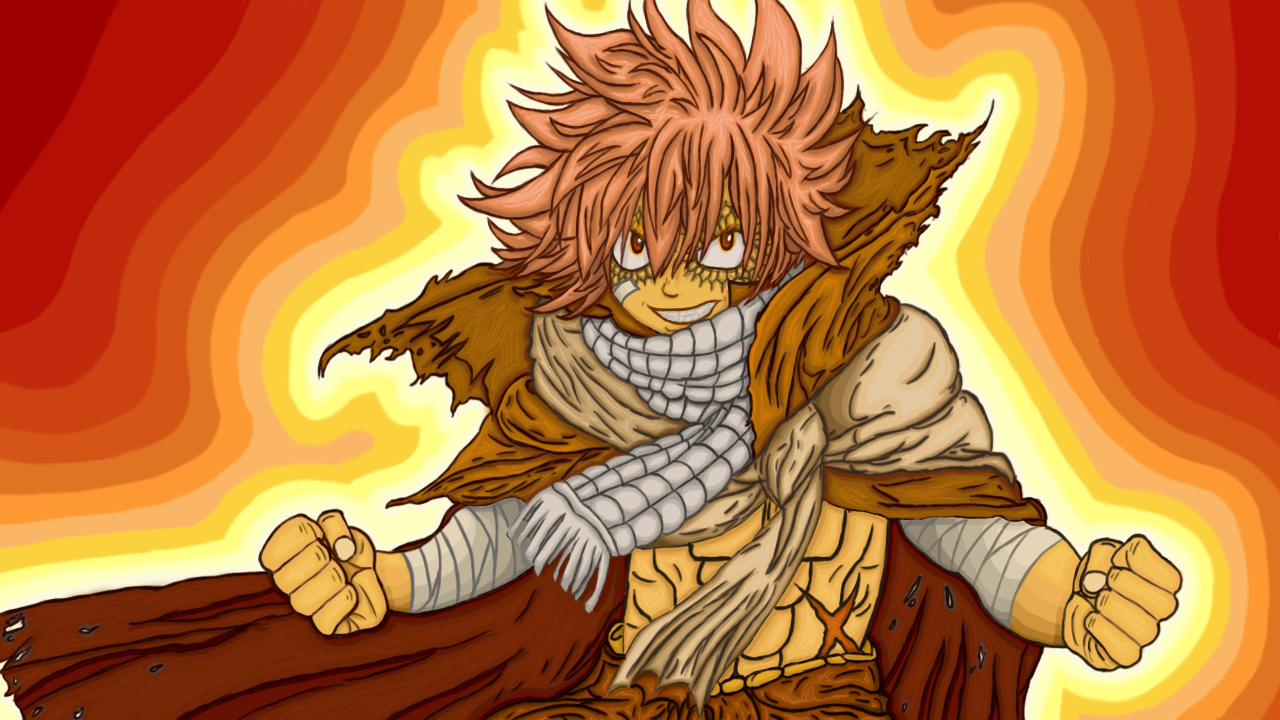 Natsu Dragneel Drawing by Psybreon