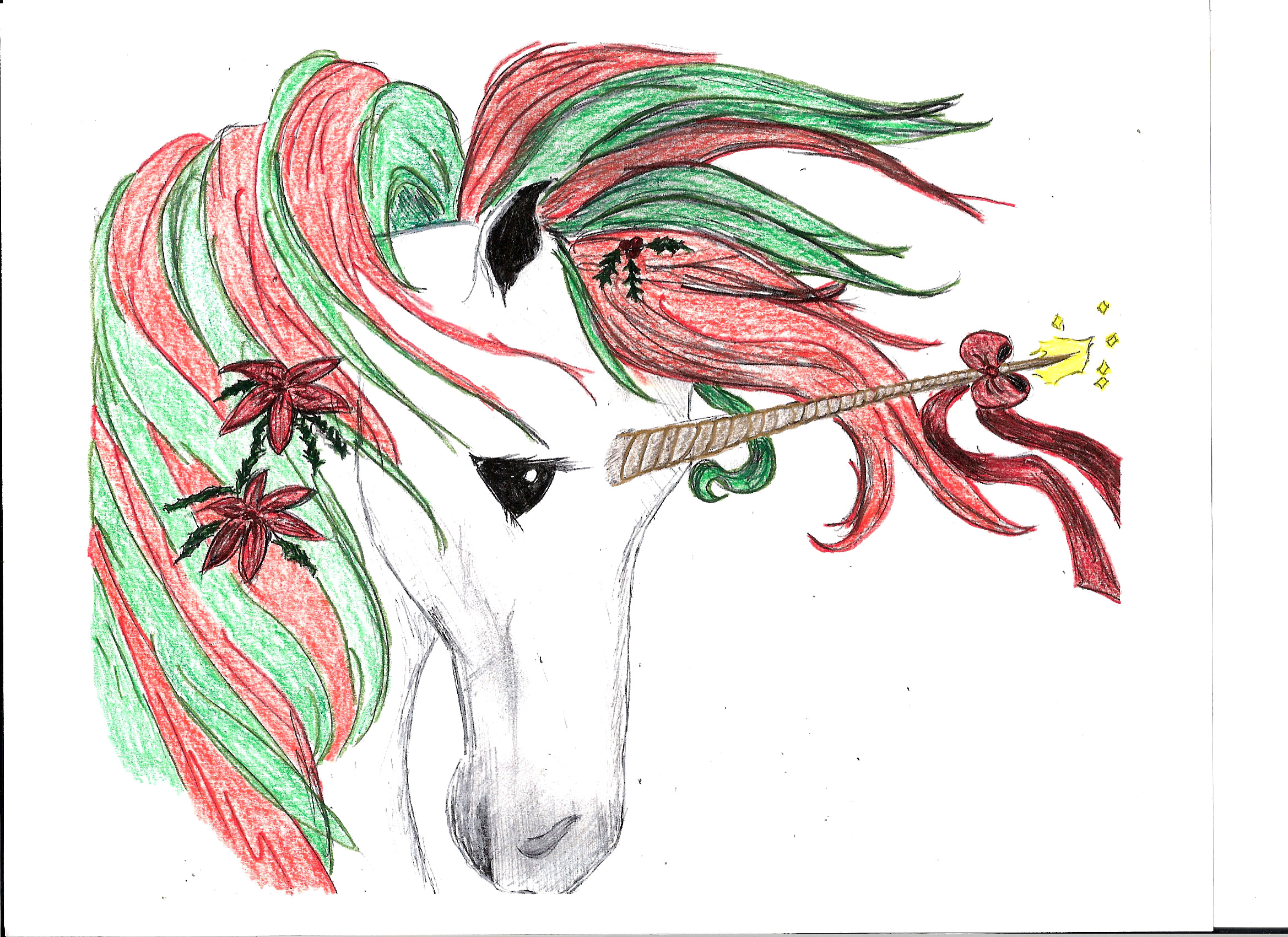 christmas unicorn recolored by duetmaxwell on deviantart