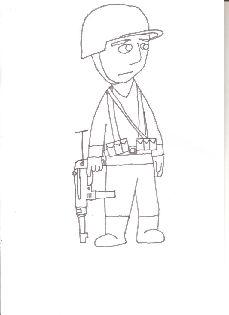 how to draw an australian soldier