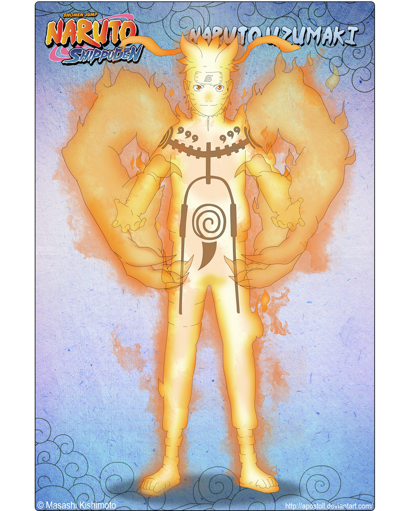 Naruto 9-Tails Chakra Mode by Apostoll on DeviantArt
