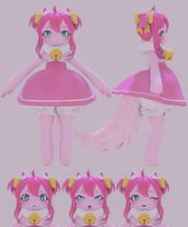 [VRChat] Pink Cat Nanachi Blender render Eevee