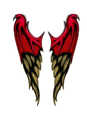 Demon to angel wings tattoo by Derrabe80 on DeviantArt