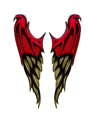 demon to angel wings tattoo by derrabe80 on deviantart. Black Bedroom Furniture Sets. Home Design Ideas