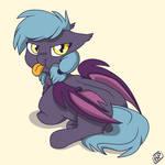 Grumpy batpony