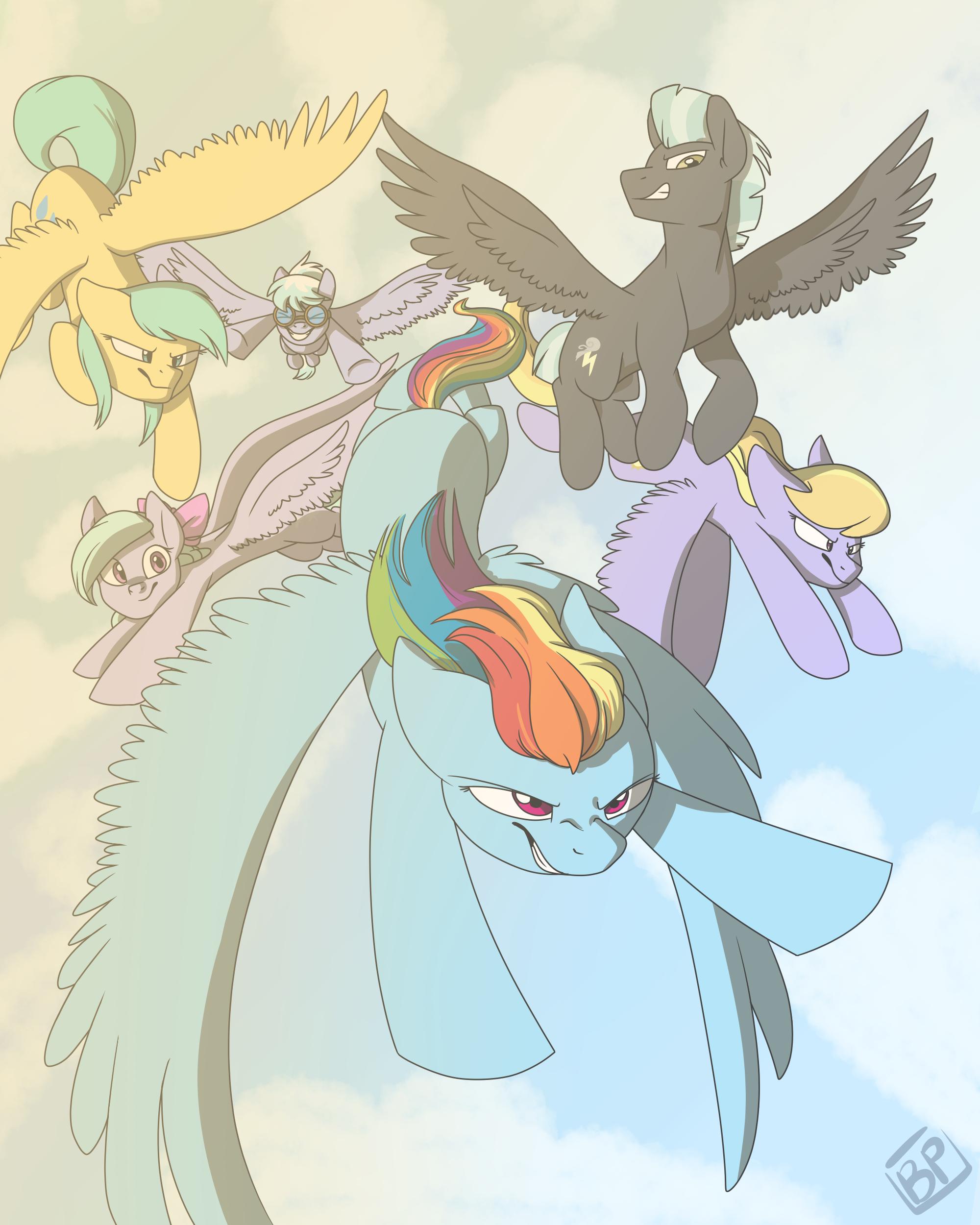 Ponyville Weather Team by GlitterStar2000