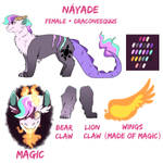 my little nextgen nayade updated ref sheet by GlitterStar2000