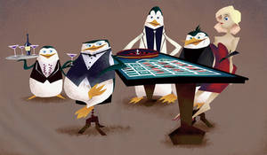 Penguins casino by GAMUwoKAMEKAME