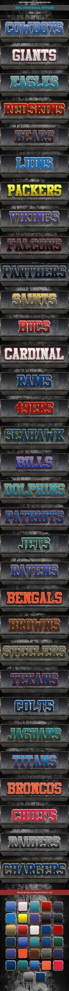NFL-Styles by caligrafx