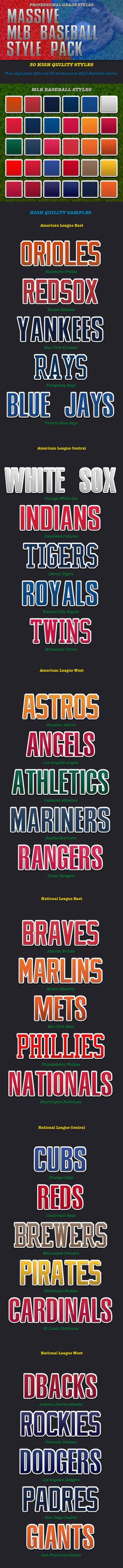 MLB Photoshop Styles by caligrafx