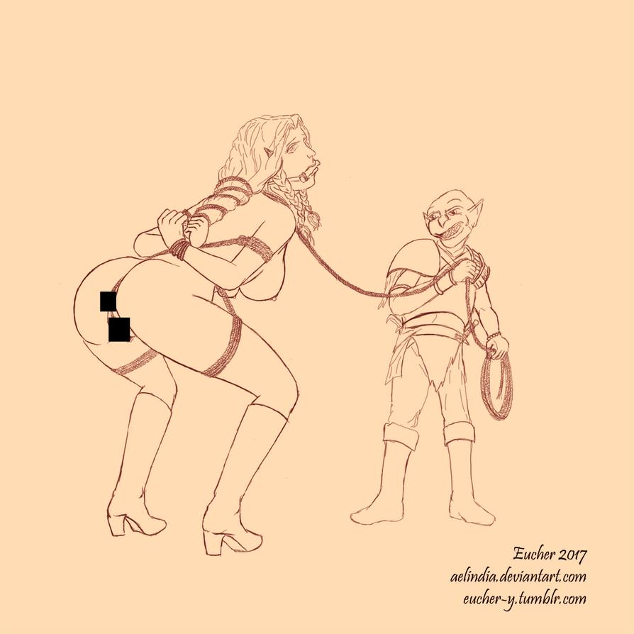 Laurana Goblin Captive by Aelindia