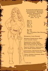 Laurana Character Sheet by Aelindia