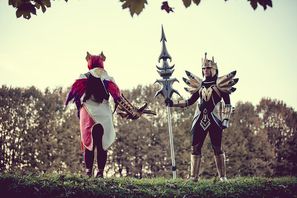 Guardians of Demacia_ Quinn and Jarvan IV by JamieCool