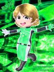 Hanayo in Live A Hero Costume