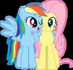 RainbowDash-n-Fluttershy-snuggle