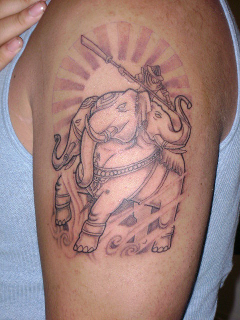 Laos elephant by tattooin momma on deviantart for Laos tattoo designs