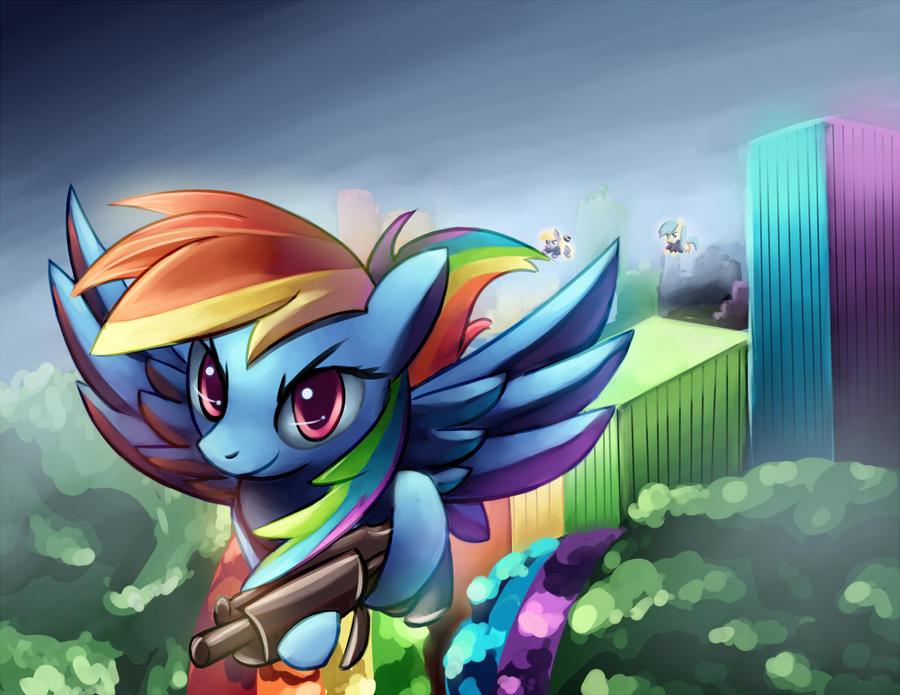 Commander Rainbow by velglorth