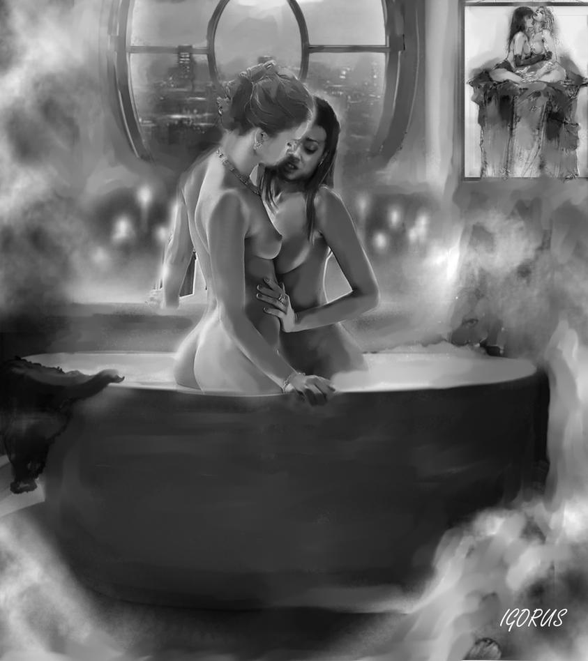 Sensual Bath by Igorus1985