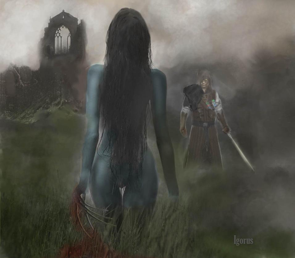 Bruxa and Witcher. by Igorus1985