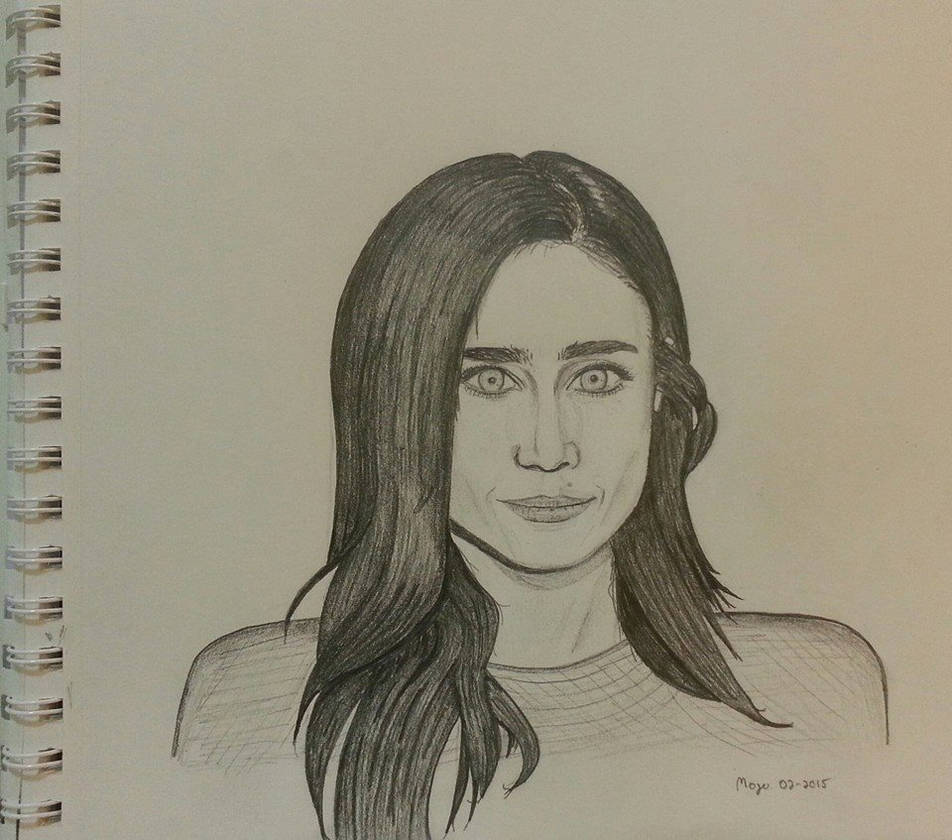 Jennifer connelly hb pencil sketch by mojorisin2112 on deviantart