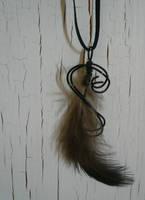 Dark Pheasant Necklace by Starlit-Sorceress