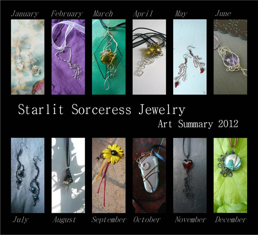 Starlit Sorceress Jewelry - Art Summary 2012