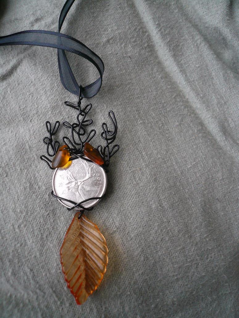 Avad am Emyn -- Mirkwood Elk Pendant by Starlit-Sorceress