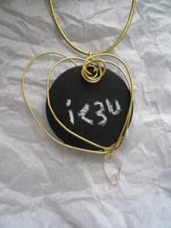 Tranquil Heart -- Chalkboard Pendant