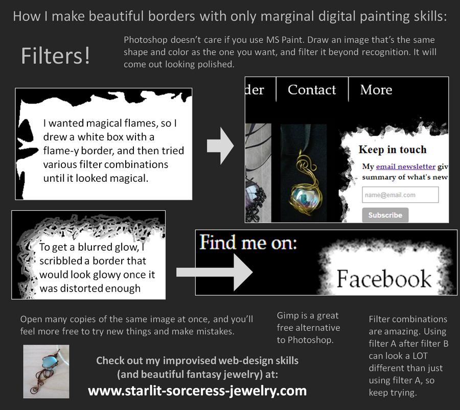 Beautiful, Easy Borders by Starlit-Sorceress