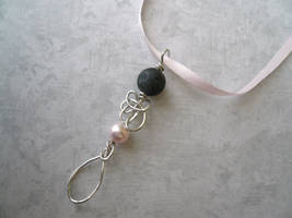 Feather Drop I -- Stealth Bubble Wand Necklace
