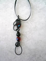Ember Lace II -- Stealth Bubble Wand Necklace