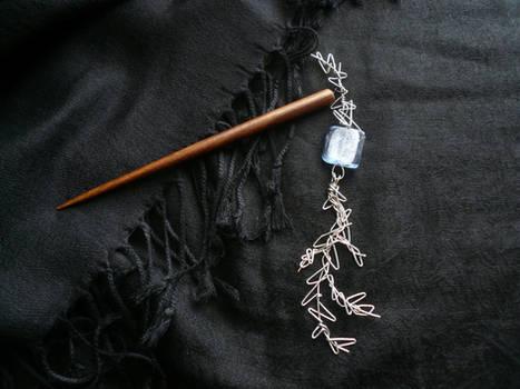 Silver Branch Hairstick