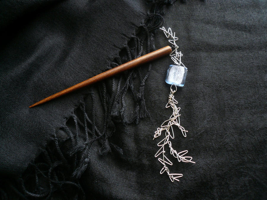 Silver Branch Hairstick by Starlit-Sorceress