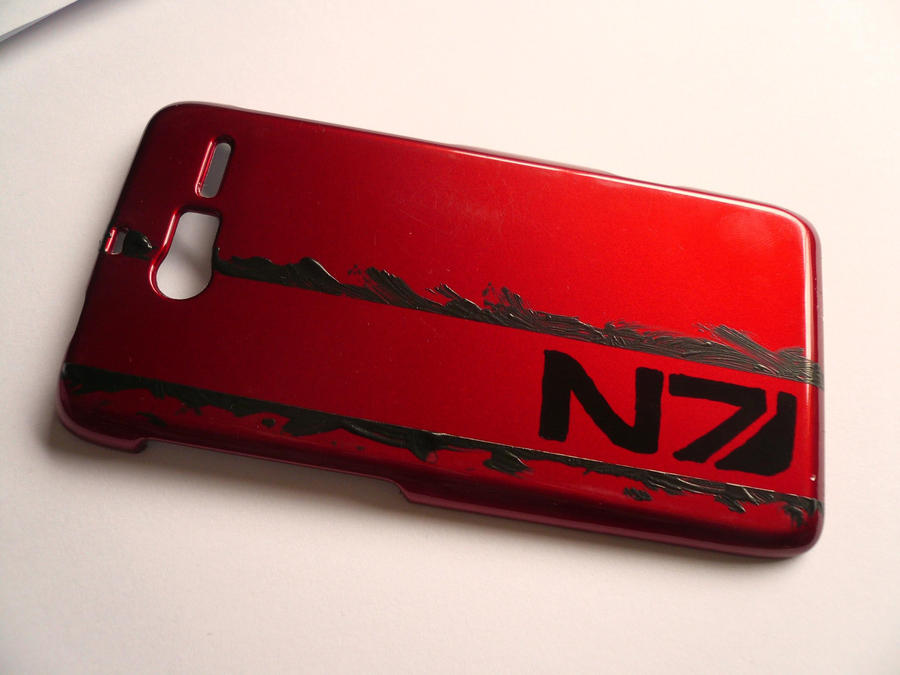 Mass Effect Abstract Stripes Phone Armor +Tutorial by Starlit-Sorceress