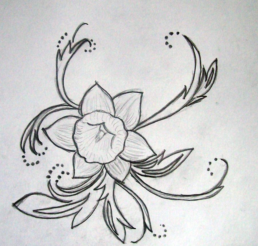 Blue Daffodil Tattoo tattoo design daffodil by