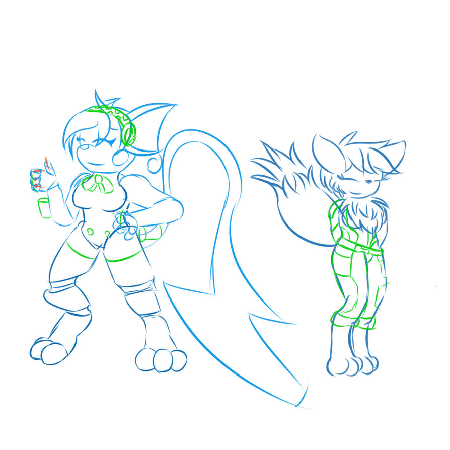 Sketch: Cosplay Fun by solarknight99