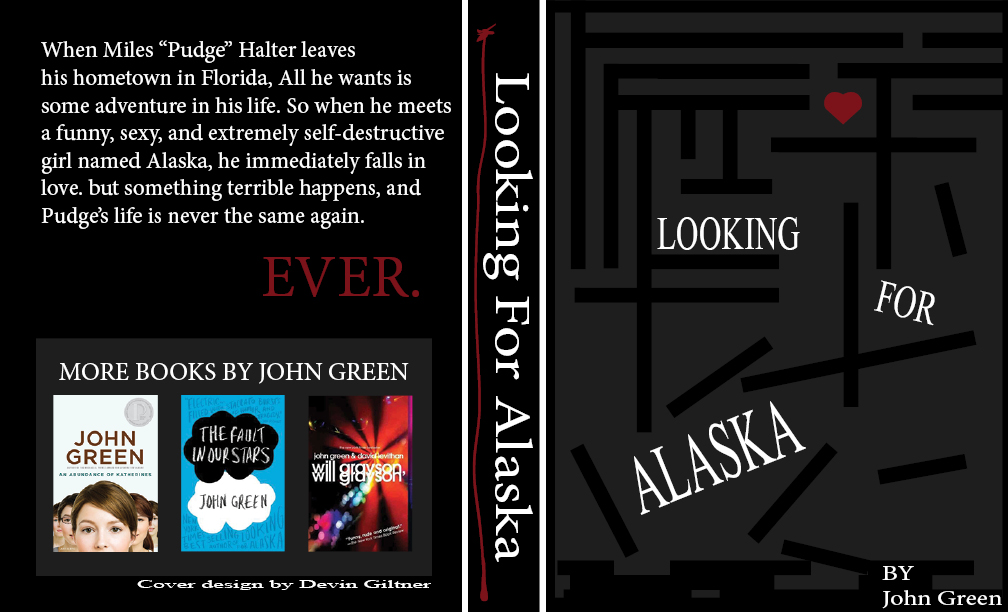 Looking For Alaska Cover: Looking For Alaska Book Cover Design By MonotonyArt On