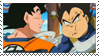 Eating Goku x Vegeta Stamp by YukiTenshin