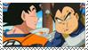 Eating Goku x Vegeta Stamp by YukiTenshin