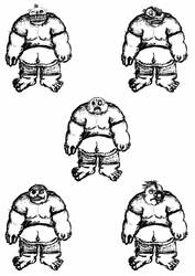 Fat Zombies face concepts