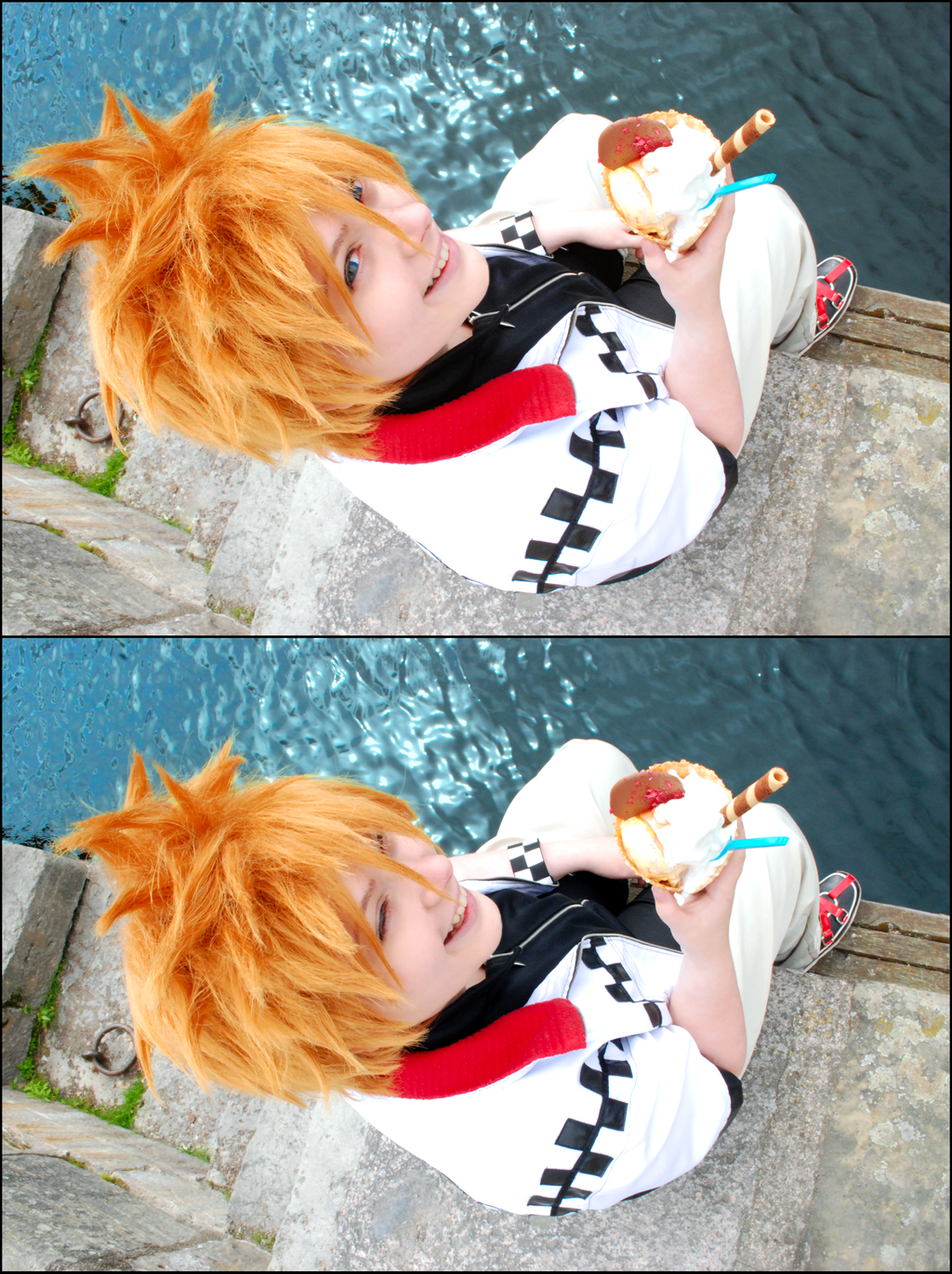 Roxas - Summers first icecream by Millahwood