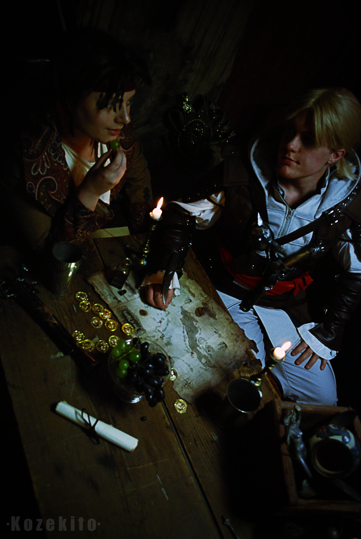 James Kidd and Edward Kenway - Treasure map. by Millahwood
