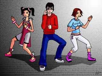 David, Miharu, and Xiaoyu by Tora-san