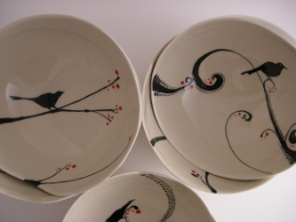 Bird Bowls misc VII by cathygee
